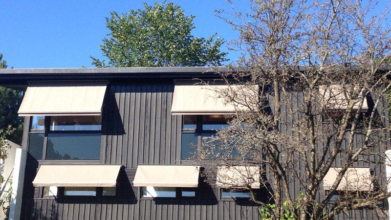 Fasademarkise med fjernkontroll farge Grå-314403