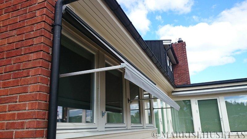 Fasademarkise med fjernkontroll farge Grå-407151