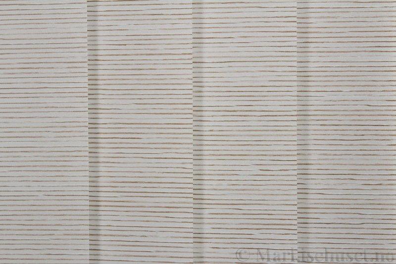 Lamellgardin tekstil serien Palisander 250015-0260 farge Offwhite. Bildet er tatt med lys forfra.