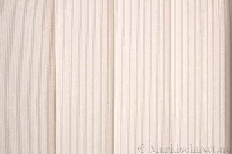 Lamellgardin tekstil serien GreenScreen ECO 250965-0750 Linfarget. Bildet er tatt med lys bakfra.