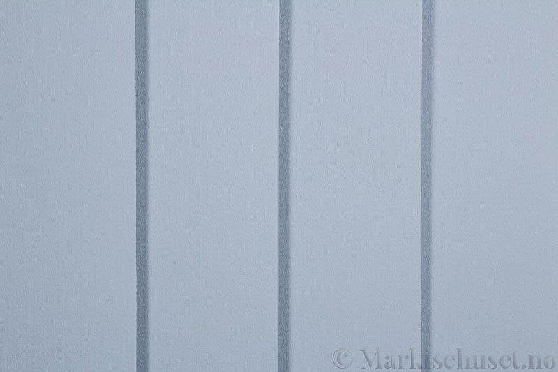 Lamellgardin tekstil serien Lumina 251625-3001 farge Stålblå. Bildet er tatt med lys forfra.