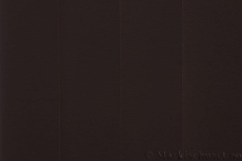 Lamellgardin tekstil serien Lumina 251625-4936 farge Sjokoladebrun. Bildet er tatt med lys bakfra.