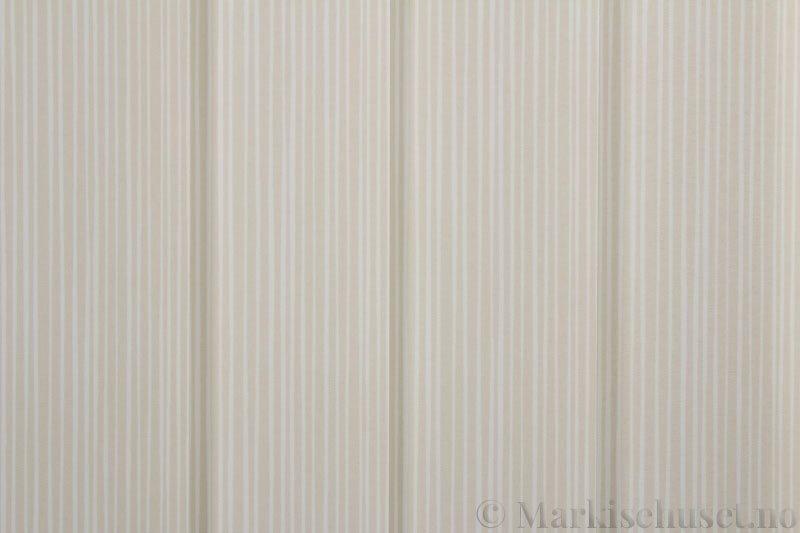 Lamellgardin tekstil serien Presto Print 720282-15 farge Beige. Bildet er tatt med lys forfra.