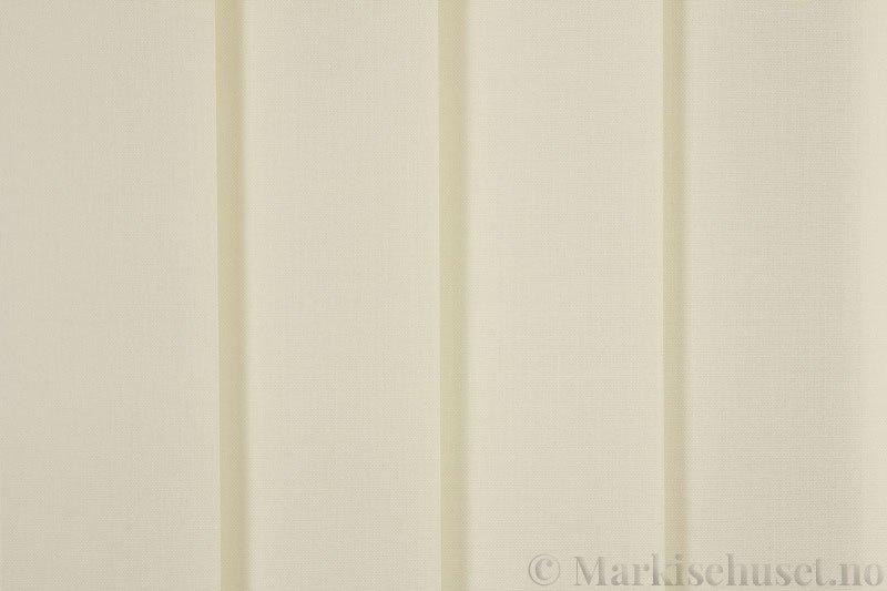 Lamellgardin tekstil serien Paris 0200 farge Beige. Bildet er tatt med lys forfra.