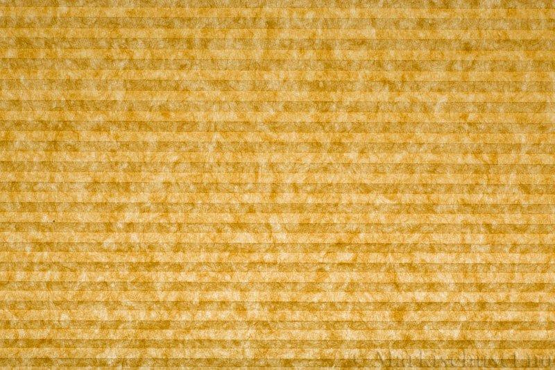 Plisségardin tekstil serien Trends 290260-4249 Gul farge. Bildet er tatt med lys bakfra.