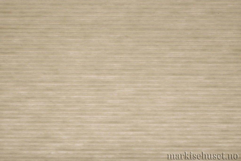 """Duette tekstil i serien Duotone 25mm. Farge: """"Ivory"""". Bildet er tatt med lys bakfra."""