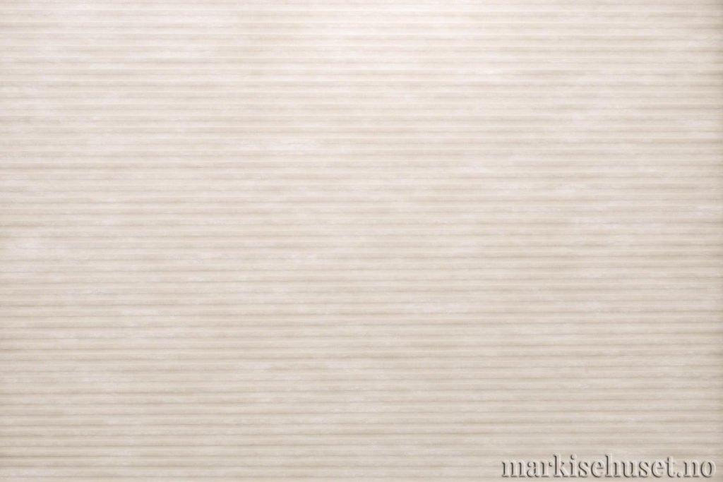 """Duette tekstil i serien Duotone 25mm. Farge: """"IvoryTusk"""". Bildet er tatt med lys bakfra."""