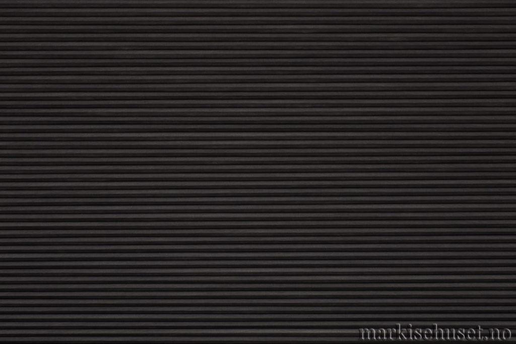 """Duette tekstil i serien Duotone 25mm. Farge: """"Charcoal"""". Bildet er tatt med lys forfra."""