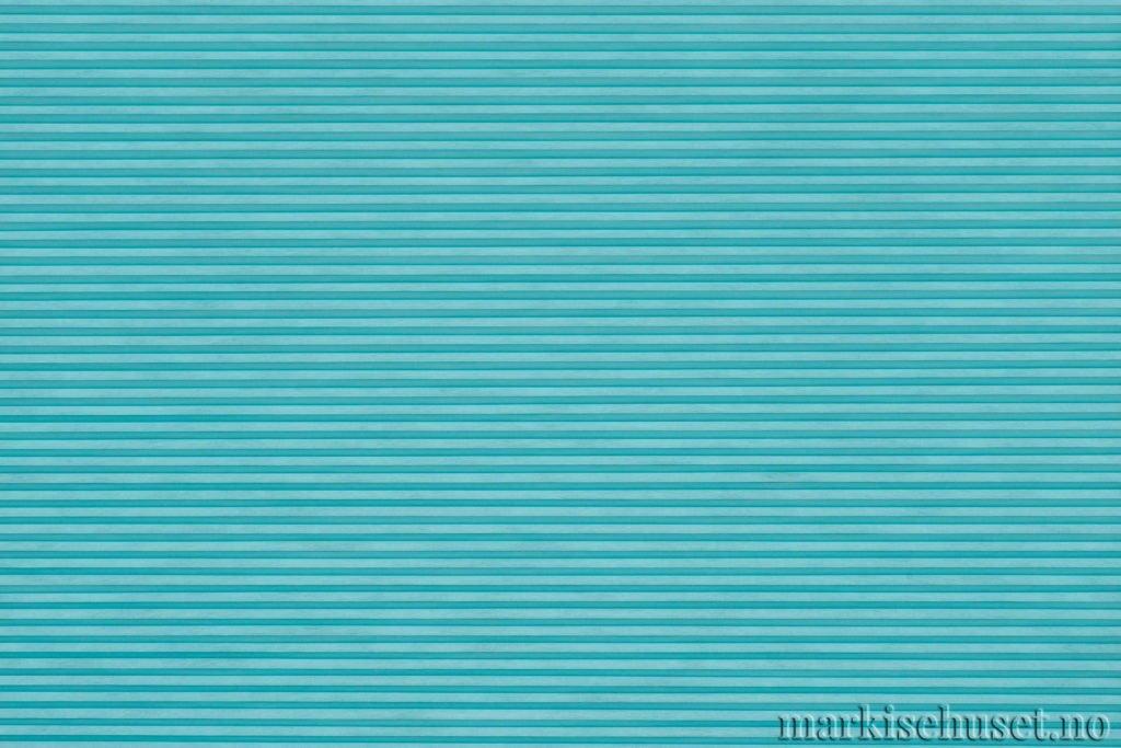 """Duette tekstil i serien Duotone 25mm. Farge: """"Turquoise"""". Bildet er tatt med lys forfra."""
