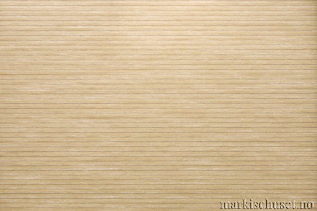 """Duette tekstil i serien Duotone 25mm. Farge: """"Agold"""". Bildet er tatt med lys bakfra."""