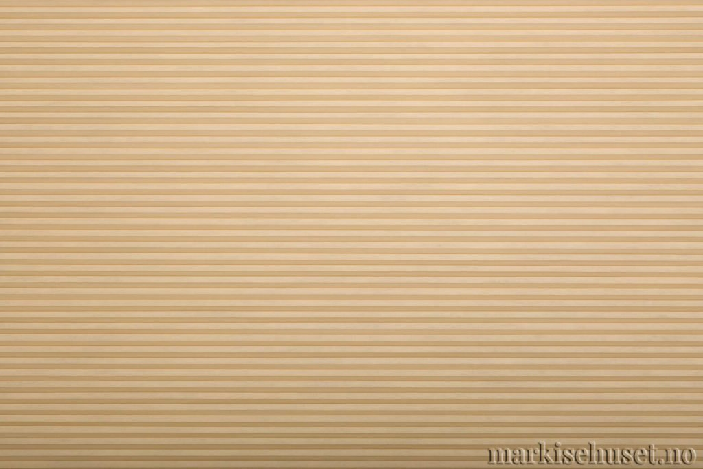 """Duette tekstil i serien Duotone 25mm. Farge: """"Bisque"""". Bildet er tatt med lys forfra."""