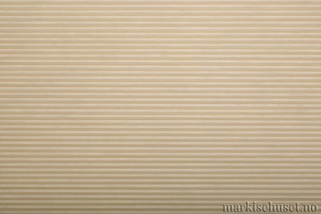 """Duette tekstil i serien Duotone 25mm. Farge: """"Sand"""". Bildet er tatt med lys forfra."""