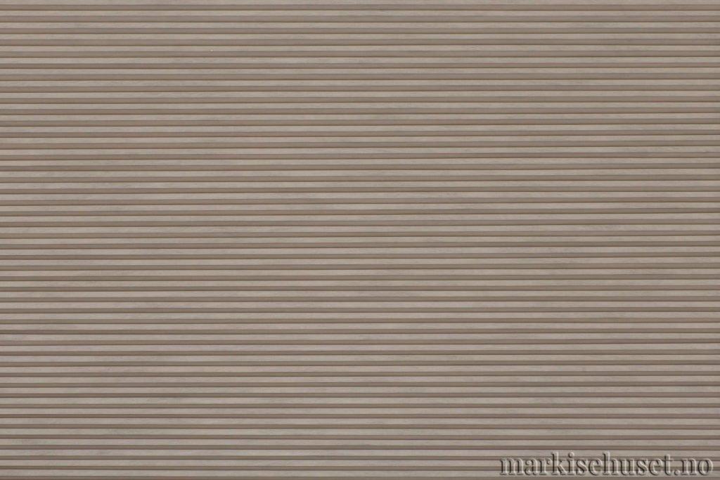 """Duette tekstil i serien Duotone 25mm. Farge: """"Coffeegray"""". Bildet er tatt med lys forfra."""