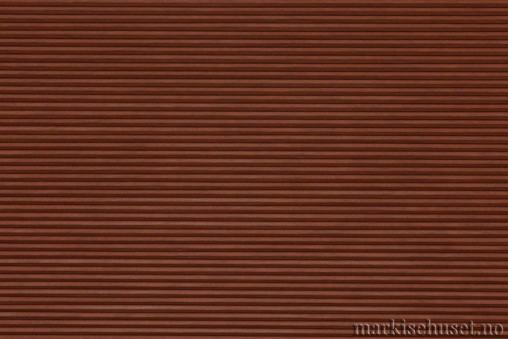 """Duette tekstil i serien Duotone 25mm. Farge: """"Foxfire Brown"""". Bildet er tatt med lys forfra."""
