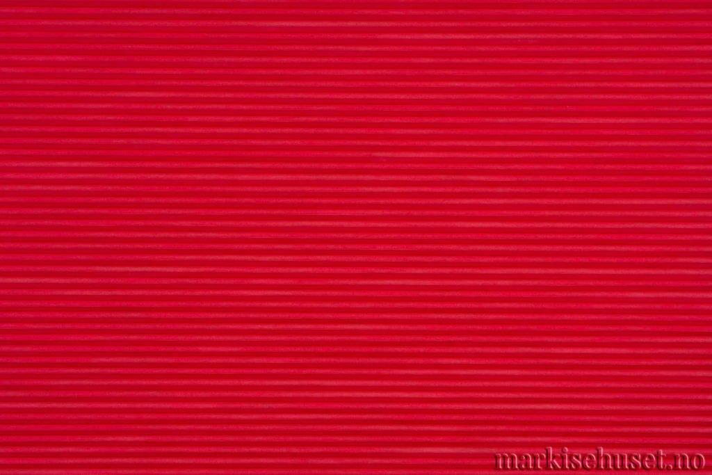 """Duette tekstil i serien Duotone 25mm. Farge: """"Red"""". Bildet er tatt med lys forfra."""