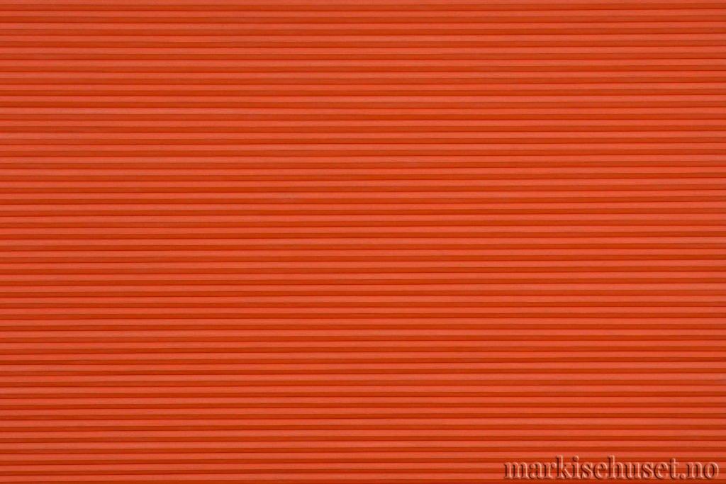 """Duette tekstil i serien Duotone 25mm. Farge: """"BrandyFlame"""". Bildet er tatt med lys forfra."""