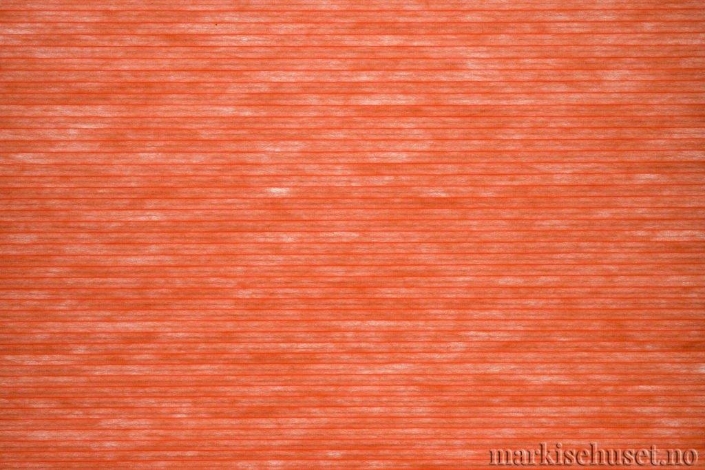 """Duette tekstil i serien Duotone 25mm. Farge: """"BrandyFlame"""". Bildet er tatt med lys bakfra."""