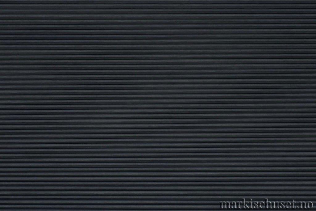 """Duette tekstil i serien Duotone 25mm. Farge: """"GraphiteGrey"""". Bildet er tatt med lys forfra."""