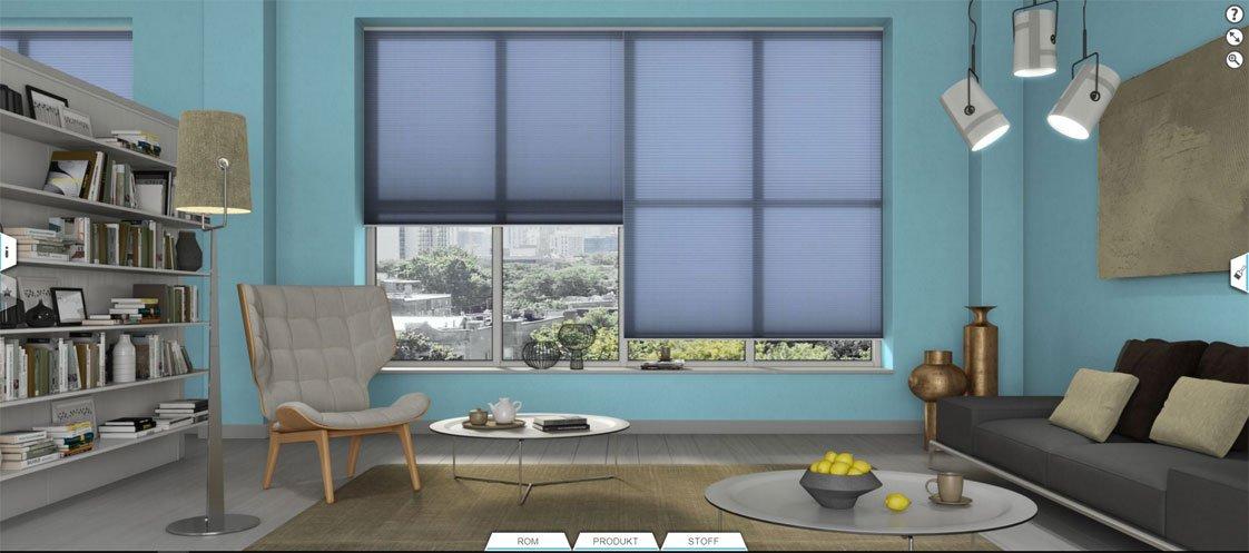 """Prøv ut dine favoritter i """"Prøverommet"""". Her kan du bestemme rommets utseende som farge på vegger og tilbehør i mange forskjellige rom. Test ut med forskjellige produkter, strukturer og farger."""