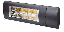 Solamagic Premium varmelampe 2000W i fargen Antrasit. Betjenes med fjernkontroll, samme type som til markiser.