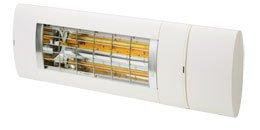 Solamagic Premium varmelampe 2000W i fargen Hvit. Betjenes med fjernkontroll, samme type som til markiser.