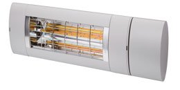 Solamagic Premium varmelampe 2000W i fargen Titanium. Betjenes med fjernkontroll, samme type som til markiser.